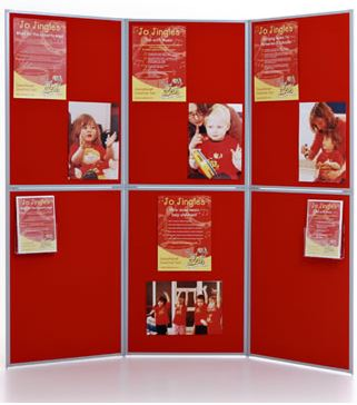 6 Panel Display Boards are ideal for quick, easy to set up pop-up shops