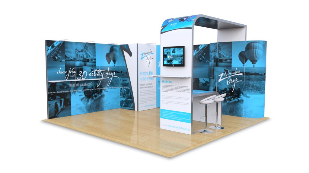 5m x 5m hire exhibition stand