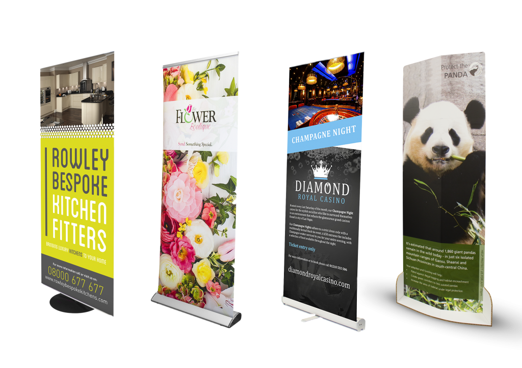 Range of 4 roller banners