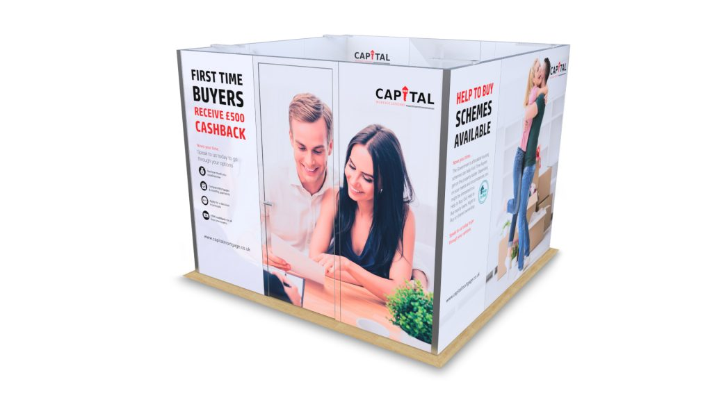 3m x 3m cubicle display for trradeshows
