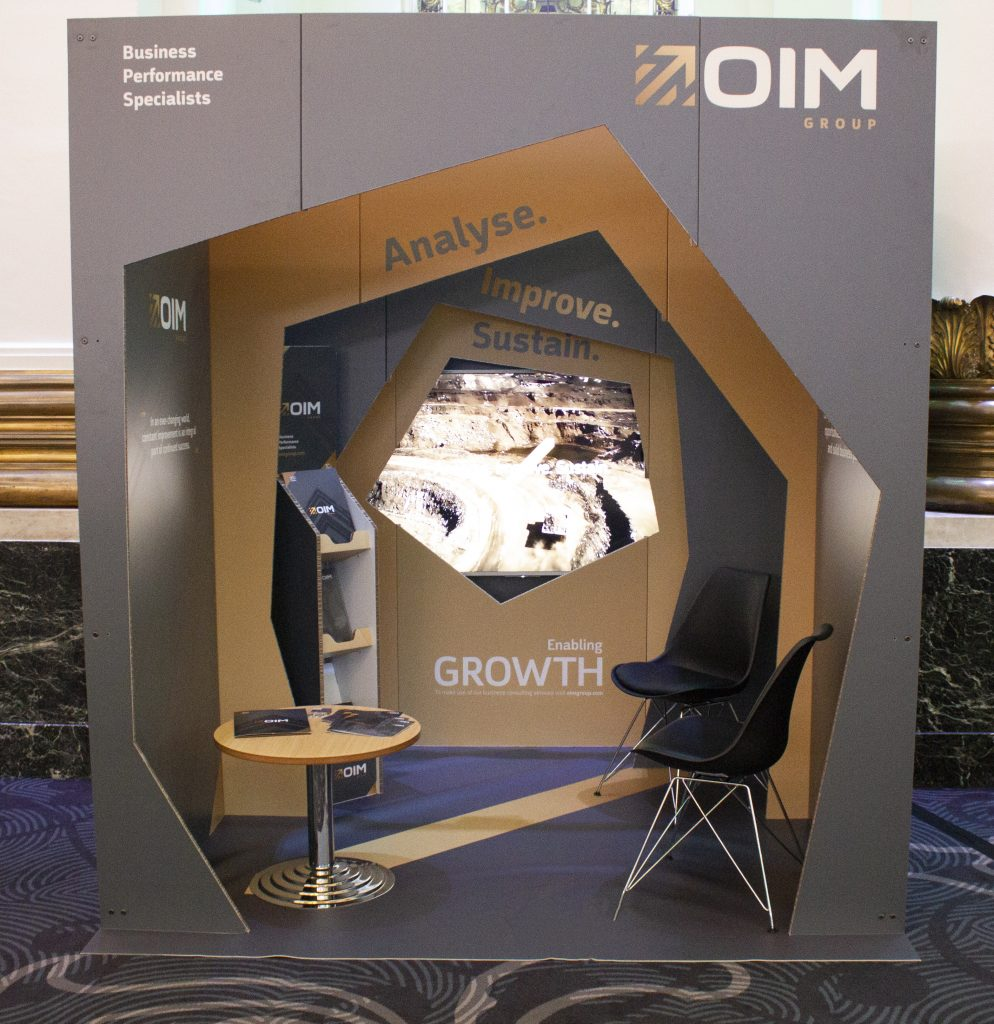 eco display stand, made with xanita ideal for tradeshows