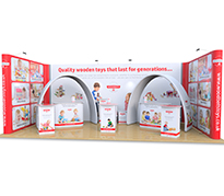 4m x 8m Exhibition Stands