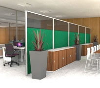 Acoustic Office Screens
