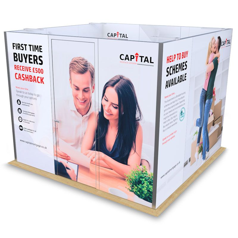 3m x 3m exhibition meeting cubicle available for hire