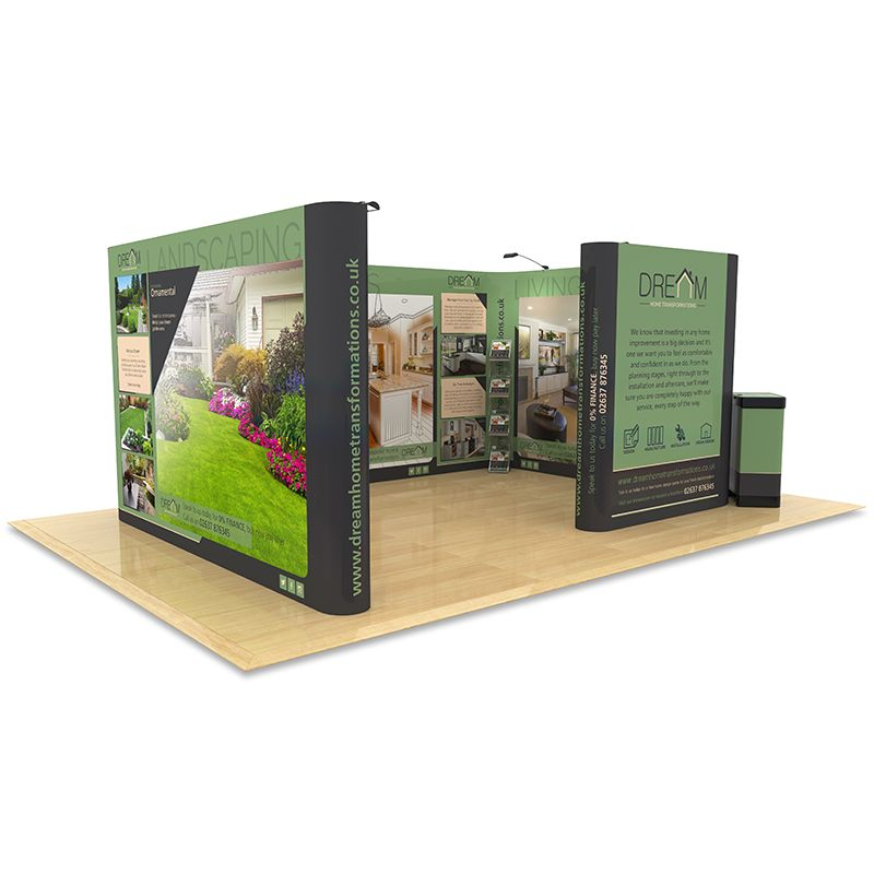 Custom Made Pop Up Room, ideal for 4m x 6m space only stand to create a dramatic display