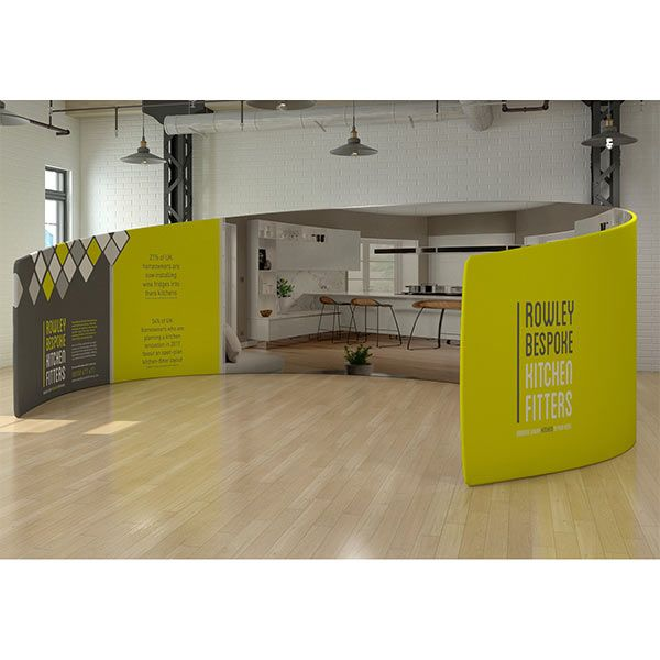 Large booth from the fabric tex-flex range.
