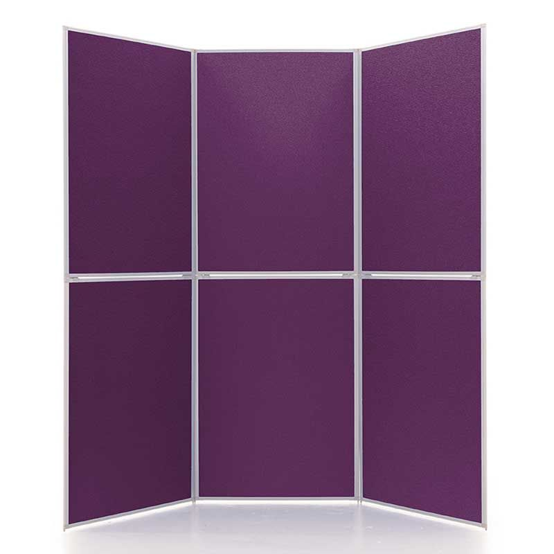 Event+ 6 Panel Display Board in Plush Parlour