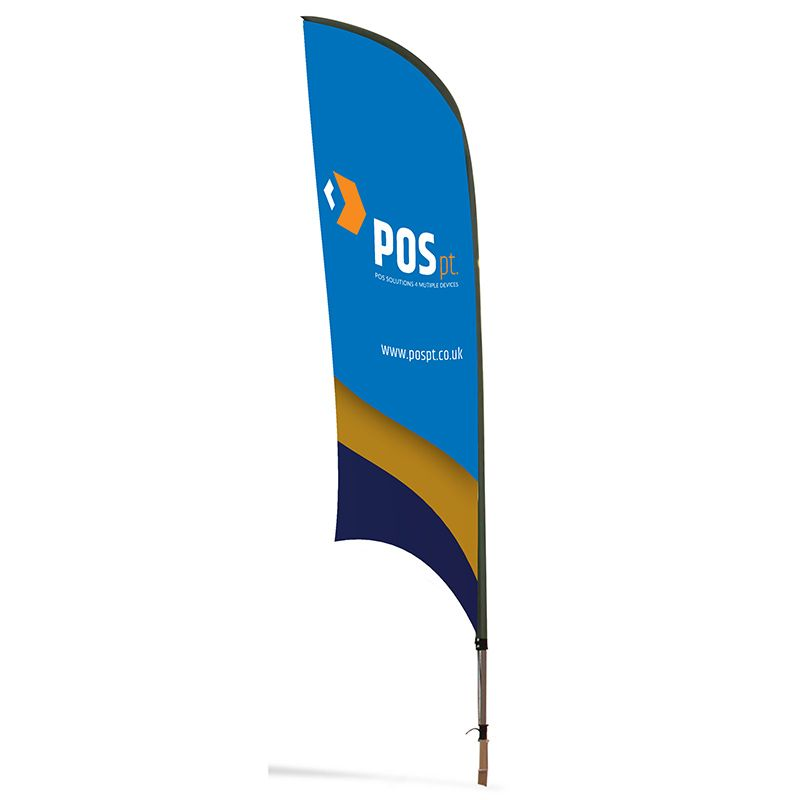 Double sided feather flag, perfect for outdoor displays