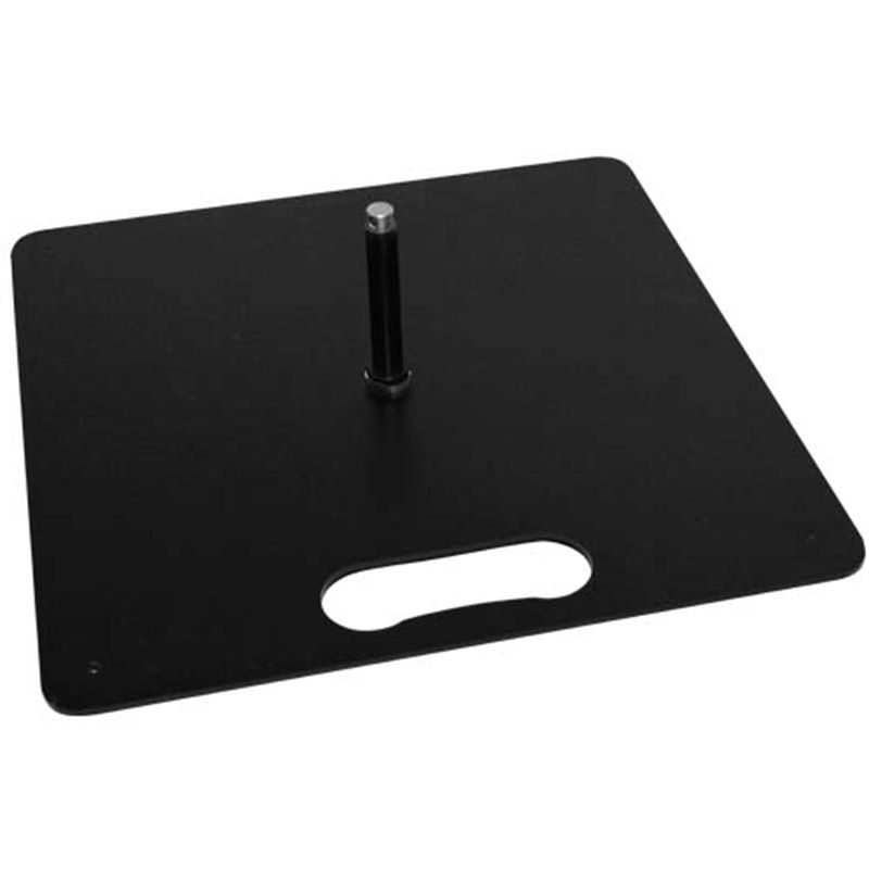 Black square plate, suitable for use with the flag range.
