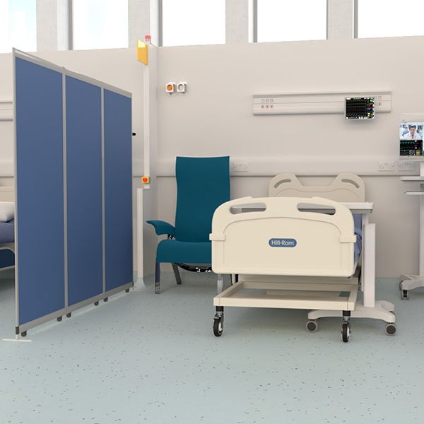 Mobi Antibacterial Screen, used for covid-19 testing centres & social distancing