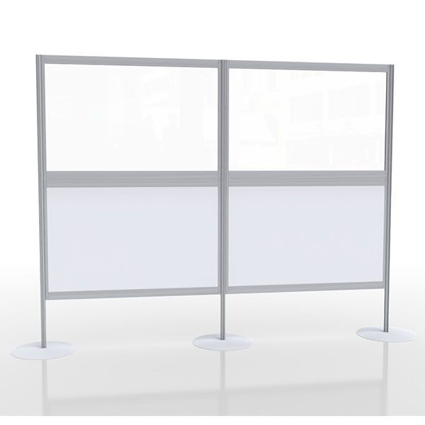 Multi-panel social distancing screen with acrylic and laminate panels, Ideal for covid-19 pods