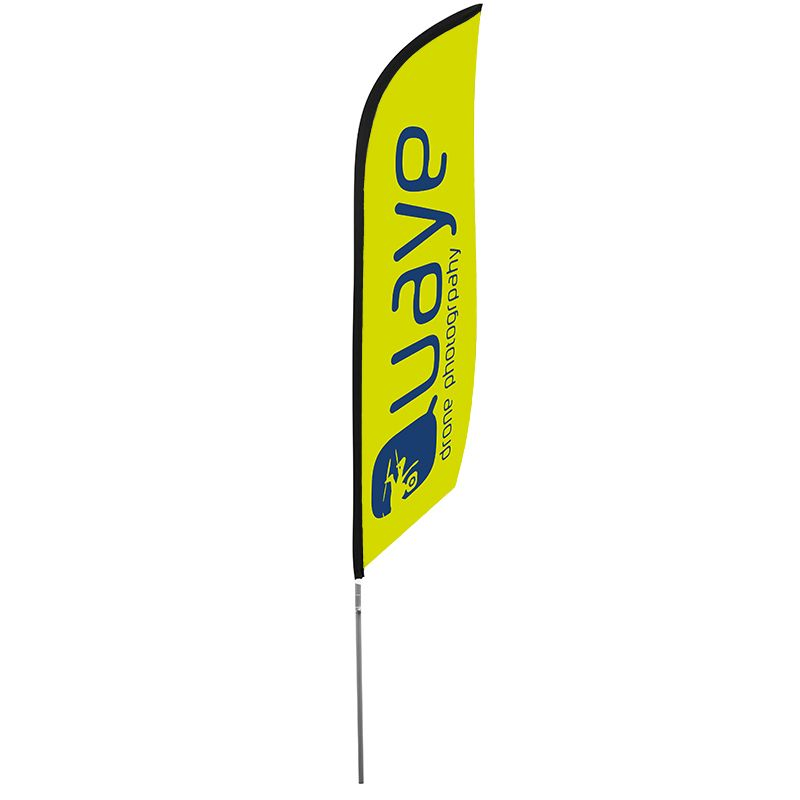 Premium feather flag, available with a choice of flag bases.