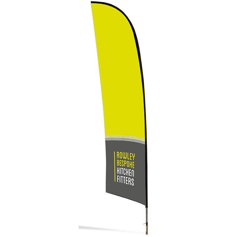 Double sided Blade premium banner, suitable for all exhibitions and trade shows