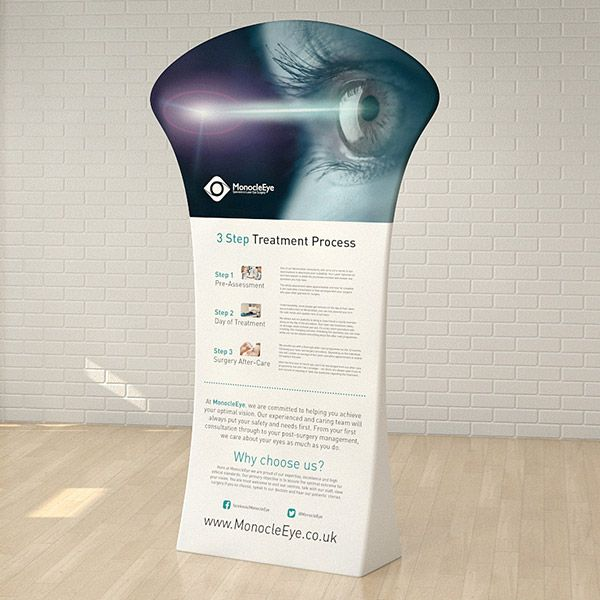 Fabric banner stand, printed fabric display stand