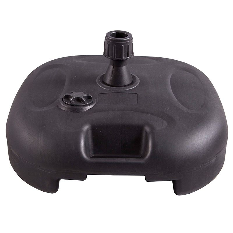 Black round moulded bases, suitable for indoor and outdoor use with the flag range.