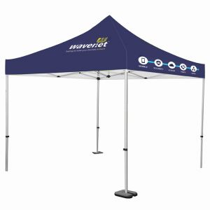 2m x 2m custom printed gazebo, ideal for outdoor exhibitions