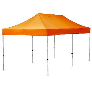 3m x 6m exhibition gazebo, with orange canopy