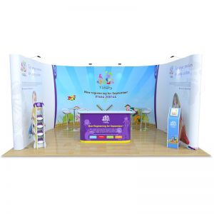 3m x 5m jumbo u shape exhibition stand
