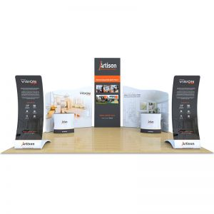 6m x 6m full fabric display stand, as part of the tex-flex range.