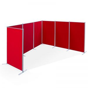 PanelFix 7 panel display board kit includes 7 1800 x 900mm panels, 8 poles and stabilising feet ideal to create booths