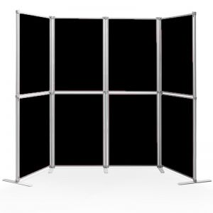 8 Panel display board, for displaying lightweight posters and prints. Use both portrait and landscape.