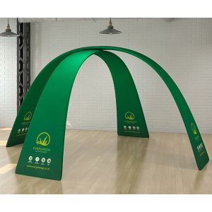 custom branded Tex-Flex fabric display arch