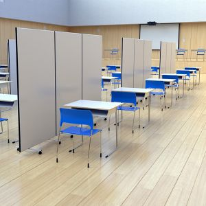 Budget Laminate Screens, used for schools & covid-19 testing centre