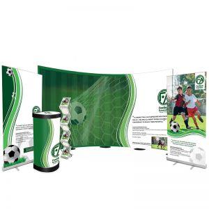 4m Streamline Pop Up Bundle, including 2 sterling roller banners, storm leaflet dispenser and deluxe upgrade kit.