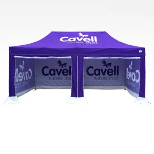 3m x 6m Gazebo printed with all sides and rollable door