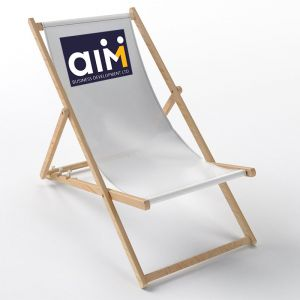 Custom branded exhibition deck chair