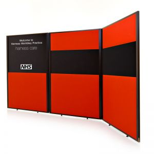 Concept Office Partition Screens available in 2 Acoustic Panels