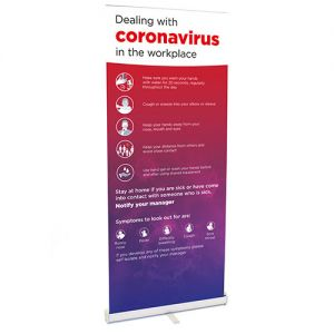 roller banner, banner stand