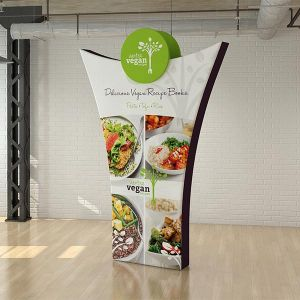 Stretch fabric PR banner form the fabric Tex-Flex range.