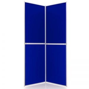 Event 4 Panel Displays in Electric Blue