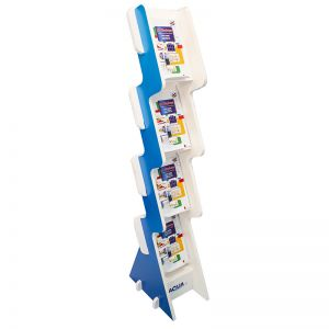 Cascade literature stand custom printed with your brand