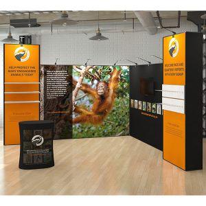 4m x 4m L Shape Multi-Fix Exhibition Stand