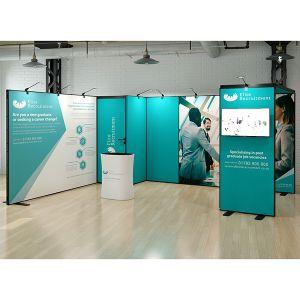 4m x 5m L Shape Multi-Fix Exhibition Stand