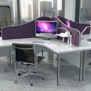 Omega wavetop acoustic screens, create privacy around your desk