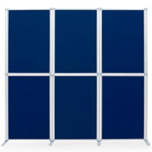 PanelFix 6 display board kit. Upholstered in loop nylon fabric for easy application of materials.