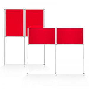 2 A1 Panels Display Board allows you to display 2 A1 posters perfectly without covering the frame. These panels can be used both portrait and landscape.