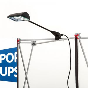 Pop up display stand spotlight style S