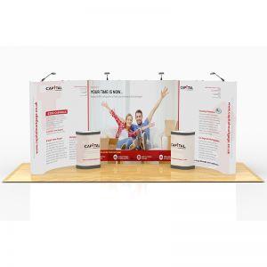 3m x 6m C Shape Exhibition Stand Design
