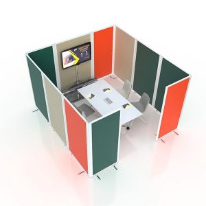 Anti bacterial office pod, ideal for clinical environments.