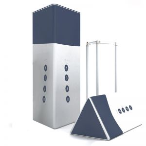Inflatable square totem, with custom branding.