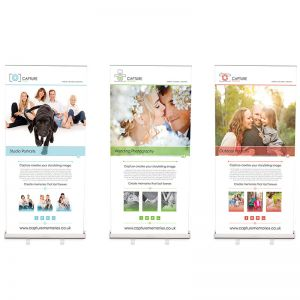 Sterling 1000mm wide banner bundle include 3 x roller banners