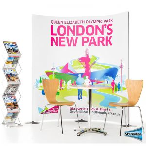 Streamline Exhibition 2 Panel Display Stand