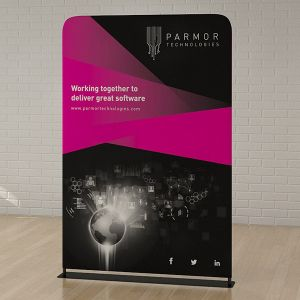 Sleek fabric banners provide you with a statement branding solution
