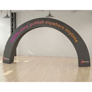 Tex-flex gate fabric exhibition arch.