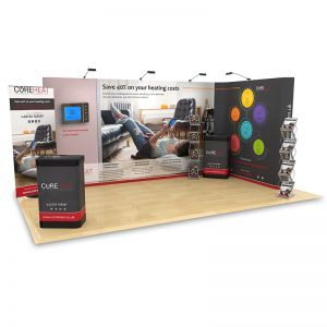 3m x 5m L Shape Exhibition Stand