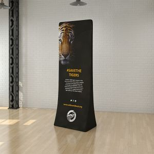 custom branded stretch fabric tower banner